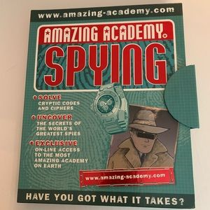 Amazing Academy Spying Manual Hardcover Book New